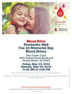 Red Cross Blood Drive May 2018